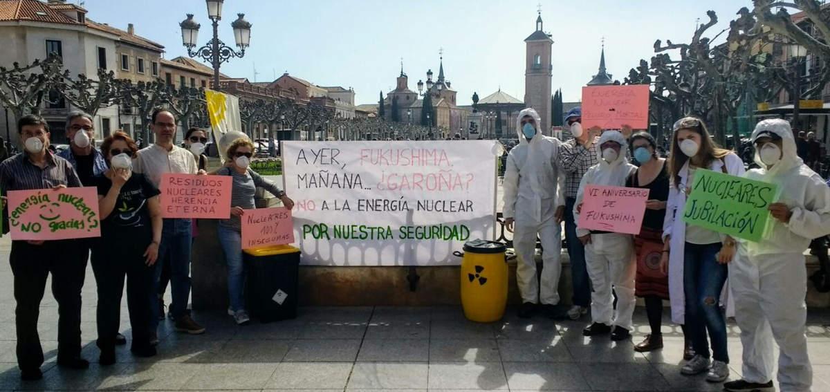 Manifestación contra energía nuclear