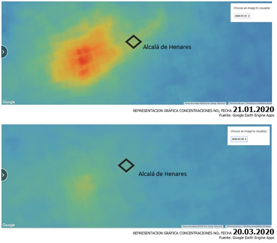 Descripción: baja-contaminación-alcalá-henares-confinamiento-estado-alarma